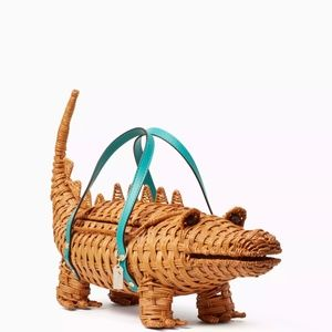 LOOKING FOR🤓Kate Spade Wicker ALLIGATOR Bag 🐊